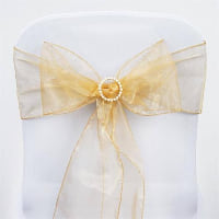 Chair Tie - Gold sheer