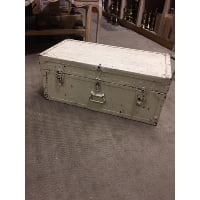Trunk - White No Side Handle, Blue Inside