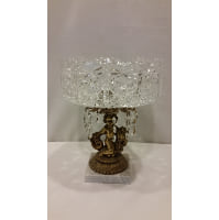 Pedestal - Cut Glass Bowl Gold Statue