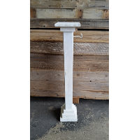 Pillar - White 4x4 w/Hook