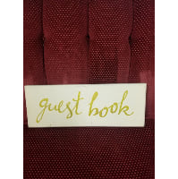 Sign - Guest Book Gold Writing