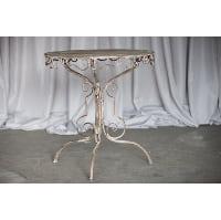 Table - Grey Metal Bistro