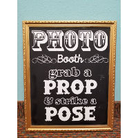 Sign - Photobooth Gold Frame