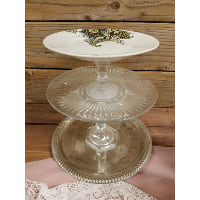 Pedestal - Three Tier Paisley Top