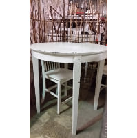 Table - Tall White Wood Round