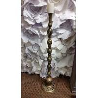 Candle Holder - XL Tall Brass 3'11