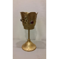 Candle Holder - Brass Medieval Goblet