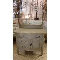 Dresser - Beige w/Towel Bar