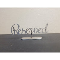 Sign - Reserved Metal Script Table top
