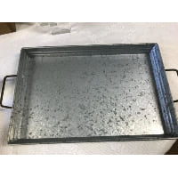 Tray - Galvanized Rectangle Two Handle
