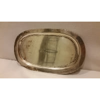 Tray - Silver Simple Oval Mini