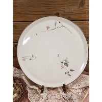 Plate - Cherry Blossom Silver Edge