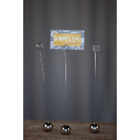 Place Card Holder - Silver Ball Tall