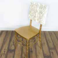 Chair Cover - Ivory rosette square top