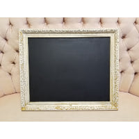 Chalkboard - Ivory with Gold Swirl detail