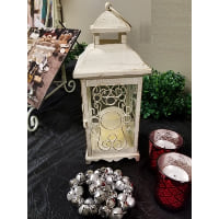 Lantern - Mini Creamy White Scroll Side