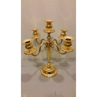 Candelabra - Five Candle Gold Shiny