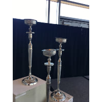 Candelabra - Silver Tall Four Candle