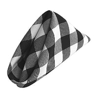 Napkin - Black and White Checkered