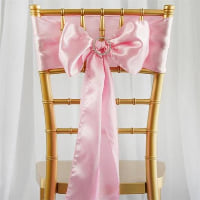 Chair Tie - Blush pink satin