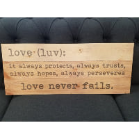 Sign - Love (luv) definition