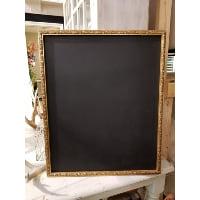 Chalkboard - Gold narrow grassy frame