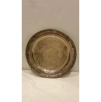 Tray - Silver Round Slit Inner Edge