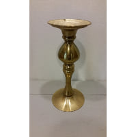 Candle Holder - Pillar Brass 10