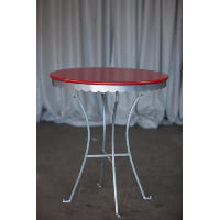 Table - Red Scalloped Edge Bistro