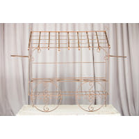 Stand - Wrought Iron, Glass Bucket Dessert Display
