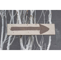 Sign - Painted brown arrow
