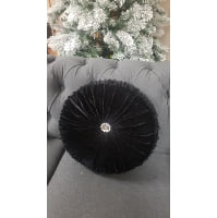 Pillow - Black velvet throw Round