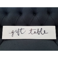 Sign - Gift table black script