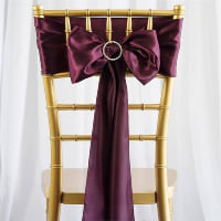 Chair Tie - Eggplant satin