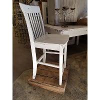 Chair - Tall White Wood