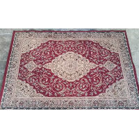 Rug - Oriental Gold/Red Diamonds