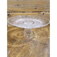 Pedestal - Cut Glass Starburst Crystal Lace Foot Narrow