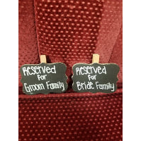 Chalkboard - Reserved for Bride/Groom Family Clothespin