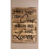 Sign - I have found the One - barnwood