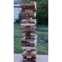 Game - Colored Wood Giant Jenga