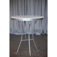 Table -White Scalloped Edge Bistro