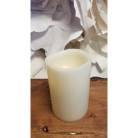 Battery Candle - WAX 6 x 4 Chubby