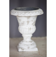 Planter - Urn White Stone Look Mini