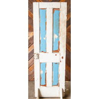 Door - White Solid Blue Panes