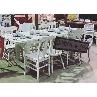 Chair - White Wood Assorted