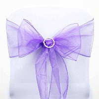 Chair Tie - Purple sheer