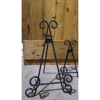 Easel - Large Black Swirl Tabletop peg stand