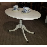 Side Table - Cream Oval