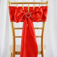 Chair Tie  - Red satin
