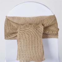 Chair Tie - Burlap Ribbon